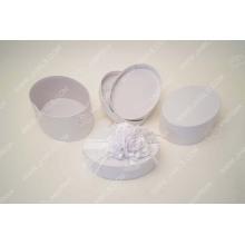 Luxury white fancy paper wedding jewelry packaging box