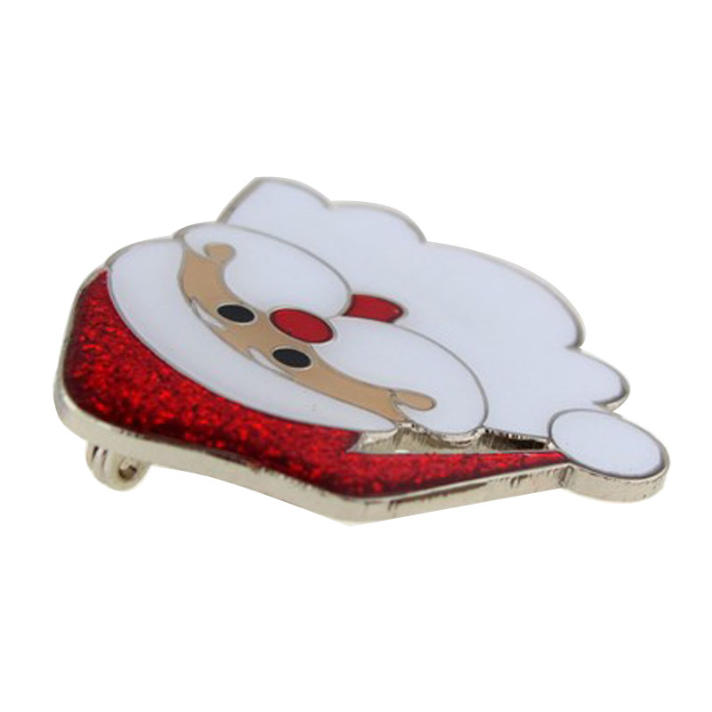 Holiday Santa Pin Side