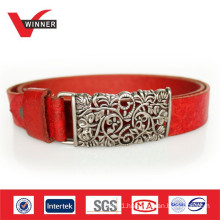 2014 Custom debossed ladies leather belts
