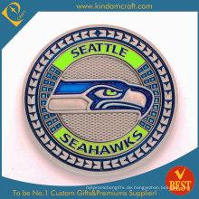 Benutzerdefinierte 2D Seattle Seahawks Souvenir Metallmünzen (LN-085)