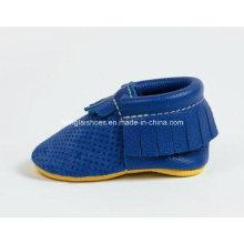 Leder Quasten Baby Schuhe 01