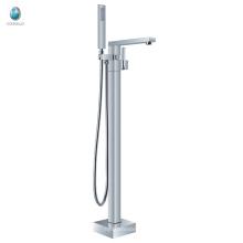 Robinet de baignoire debout libre de traitement de surface de chrome de KFT-07, robinet de douche tenu dans la main debout libre de baignoire de douche