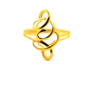 Goldener Silk Braid 18 K Gold Ring