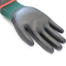 13G Black Polyester Safety G40 PolyUrethane PU Coated Gloves