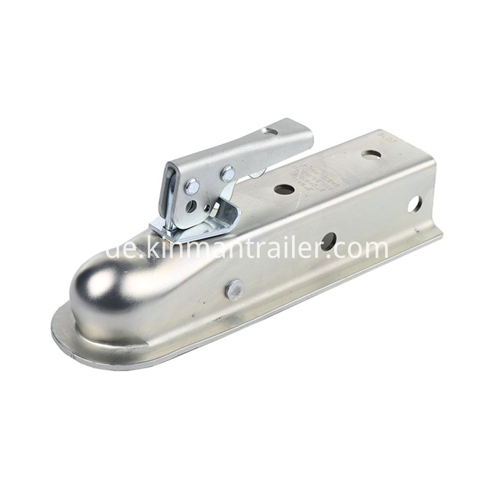 trailer coupler 2 ball 2 channel tongue