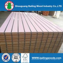 Solid Color or Wood Grain Melamine Slot MDF
