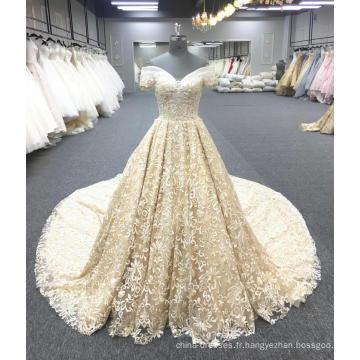 Alibaba haute qualité or luxe robe de mariée robe de mariée 2018