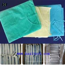 Robe chirurgicale jetable non tissée jetable médicale de robe de SMS Kxt-Sg07