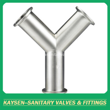 Sanitaria Tri Clamp Y tipo Tees SS304
