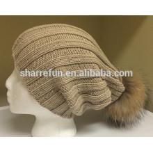 Горячие продажи новая мода 100% чистый кашемир beanie шляпа для женщин зима использовать