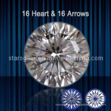 16 corazones y 16 flechas Brilliant Cut Cubic Zirconia