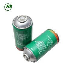 El uso del coche de China 300g puede el uso del embalaje HFC-R134a para el coche El puerto de clase superior del cilindro indestructible en el mercado de Indonesia