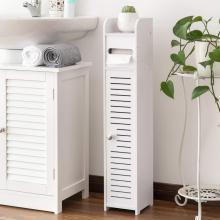 Narrow Corner Bathroom Storage Cabinets with Doors