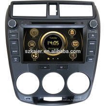 Reproductor de DVD del coche de 8 pulgadas para 2012 Honda City con GPS, TV, Bluetooth, 3G, iPod, PIP, juegos, zona dual, control del volante