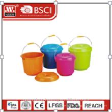 seau en plastique W/couvercle 3l/4.2l/5.2L