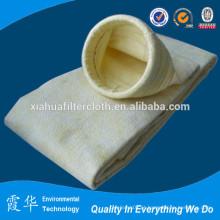 Alta temperatura resistindo saco de filtro de poeira de fibra