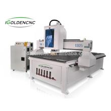 Machine de routeur de commande numérique par ordinateur en bois du prix usine 1325 de Chine pour la conception de porte