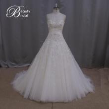 Мода кружева бисером-Line свадебное платье