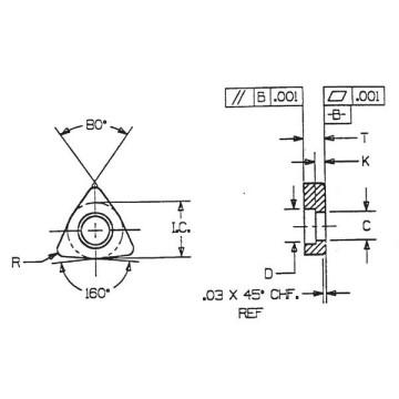 Calços de carboneto (IWSN 633) com alta qualidade