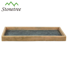 New 100% Natural Stone Rectangular Storage Tray Marble Serving Tray
