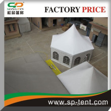 2014 Wholesale decorated waterproof hexagon pagoda shaped geodesic party dome tent 6x12m