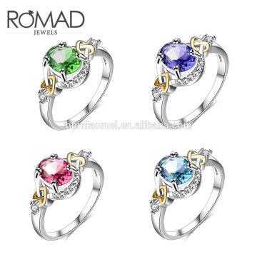 último anillo de dedo de oro diseña guangzhou moda 14k joyería de oro de lujo anillo de mujer para niñas