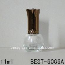 bouteille de vernis à ongles vide en verre