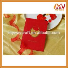 Cartões de convite de casamento de alta costura em papel de estampagem quente