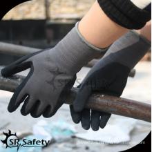 SRSAFETY 2016 новые перчатки / микропены из нитрила с покрытием из спандекса