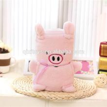 Diseño personalizado suave kids animal manta fábrica china