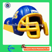 Personalizado, futebol, equipe, inflável, futebol, capacete, túnel