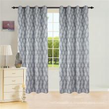 Cortina de janela jacquard com cortina de 8 ilhós