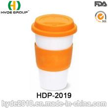 16oz Double Wall Plastic Coffee Mug with Sleeve (HDP-2019)