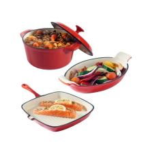 Enamel Cookware Set with pot and pan
