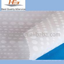 Polyester blanc de haute qualité de tissu de Dobby pour le textile à la maison