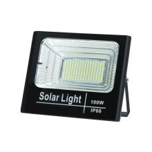 Solar flood light used for home garage lighting