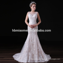 2017 Latest Fashion Embroidered Wedding dress Sexy Mermaid Lace Evening dress