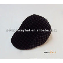 checked peak snap back hats winter hats