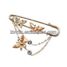 Boucles d'oreilles en cristal plaqué or en papillote