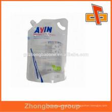 Personalizado claro inverno tela lavagem bico bolsa de plástico sacos e alças