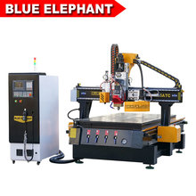 1325 Atc Wood CNC Router Machine with Oscillating Knife for Wood Furniture PVC Leather, Cloth, Paper and Foam Carving