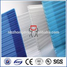 Revêtement UV feuille de polycarbonate de sunlite, feuille de bureau de Sunlite Feuille de toit de soleil