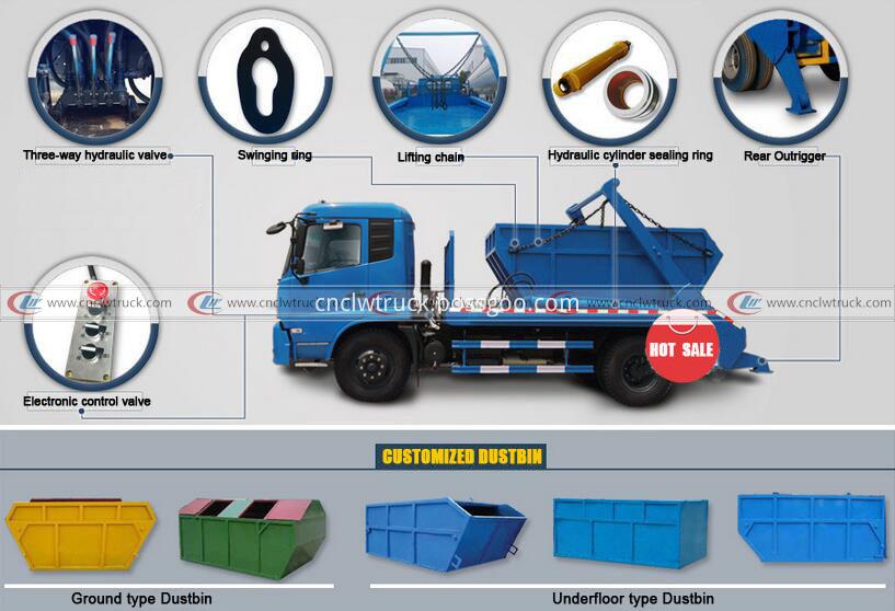 swing arm garbage truck