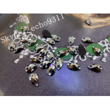 Crystal Sew on Stones 2015 Forme de goutte 7 * 12mm (DZ-3065)
