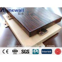 exterior wood wall panel/ 2m width wooden pattern aluminium composite panel