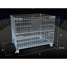 Carro contenedor de jaula de almacén de malla de alambre de alta calidad