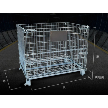 zinc foldable stacking pet preform storage wire container