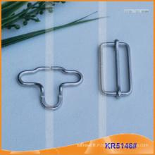 Boucle de calotte métallique pour accessoires de vêtement KR5146