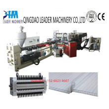 PC Hollow Structure Board Lock Sunshine Panel Extrusion Machine