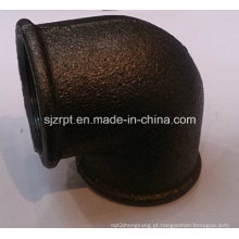 """1-1 / 4 """"Malleable Iron Pipe Fittings Beaded cotovelo preto sem costelas"""